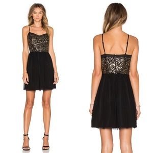 Jack by BB Dakota Carrian Sequin Dress in Black